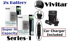 Super Hi Vivitar 2-Pc 2300 mAh EN-EL14a Li-Ion Battery & Charger For Nikon D3400