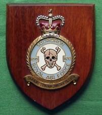 Old Vintage RAF Royal Air Force Station 100 Squadron Crest Shield Plaque skull a