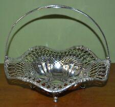 ANTIQUE REDLICH & CO Pierced sterling silver WEDDING BASKET