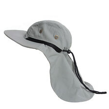 Outdoor Fish Camping Hunting Boonie Snap Hat Brim Cap Ear Neck Cover Sun Flap