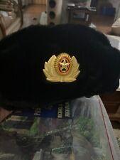 Soviet Badge Ushanka Russian fur Hat USSR