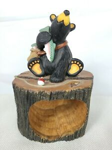 "Bearfoots Big Sky Carvers Jeff Fleming ""Bounty Box"" Bear with Fish MISSING DOOR"