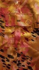 LA SENZA - Wide Leg Pajama Pants - Pink Floral Animal Print - Medium