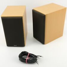 MISSION SCM50 SCM-50 Speakers + Cable | Beech Denon Surround Bookshelf