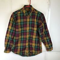 Eddie Bauer Mens Long Sleeve Button Front Flannel Shirt Small