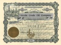 Arcola Crude Oil > 1905 Arizona old stock certificate share
