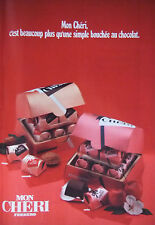 PUBLICITÉ DE PRESSE 1979 MON CHÉRIE FERRERO BOUCHÉE AU CHOCOLAT - ADVERTISING