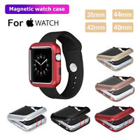 New Magnetic Metal Case For Apple Watch Series 4/3/2/1 iWatch 38/42/40/44mm