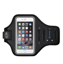 iPhone X/XS Max Armband For Running, Exercise Band, Card Slot, Key Holder, Gray