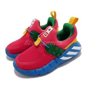 adidas RapidaZEN LEGO I Red Green Blue Toddler Infant Slip On Casual Shoe H05284