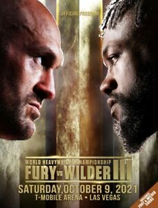 Tyson Fury vs. Deontay Wilder 3 On-Site Program With 2 Cards & A Bout Sheet
