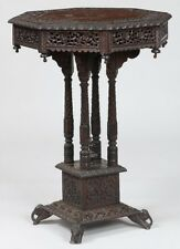 19th century Anglo-Indian carved wood stand Lot 123
