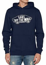 VANS Off The Wall Overhead Pullover Hoodie Men Sweatshirt Hooded Sweat Top Blue