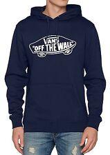 VANS Off The Wall Overhead Pullover Hoodie Men Sweatshirt Hooded Sweat Top Blue