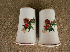 Vintage Christmas Salt and Pepper Shakers Holly Berry Japan Woolworths