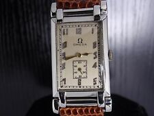 43mm SOLID 18K W.GOLD 1927 Omega -SERVICED- Ω19.4 *3 adj* mens vintage watch