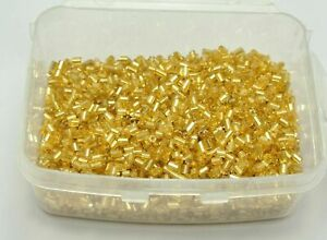 5000 Glass Tube Bugle Beads 2X2mm Champagne Silver-Lined + Storage Box
