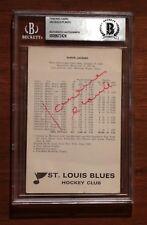 St. Louis Blues Signed Autographed Jacques Plante Postcard Photo Auto