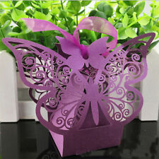20 Luxury Butterfly Boxes Wedding Party Favour Laser Cut Sweets Cake Candy Gift