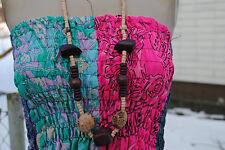 Neue dunkelbraune natur Holzkette 96 cm Halskette Collier Ethno Boho Schmuck