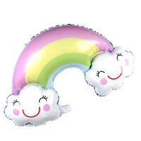 Rainbow Balloon Smile Cloud Birthday Party Wedding Decor Aluminum Foil Balloo3ct