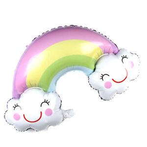 Rainbow Balloons Smile Cloud Birthday Party Wedding Decor Aluminum Foil BallFRFR