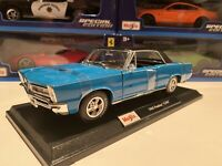 1965 Pontiac GTO - Blue 1/18 Scale Maisto Special Edition New In The Box