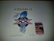 MIKE DITKA Chicago Bears AUTOGRAPHED SIGNED SUPER BOWL XX PROGRAM JSA ITP