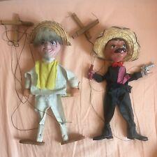 Lot de 2 Marionnettes articulées Mexicaines Mexicains
