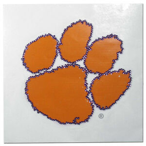 Clemson Tigers Vinyl Bling Auto Decal NCAA Licensed
