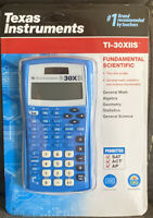 Texas Instruments TI-30XIIS Scientific Calculator 2 Line display Solar Blue- NEW