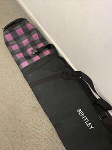 Charles Bentley Padded Ski Bag Black and Pink Hand Held Shoulder Strap K12