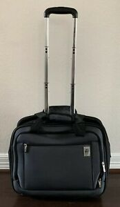 Delsey Luggage Ez Pack 2 Wheeled Underseater Black w Top Bottom Carry Handles