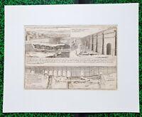 XVIII ème - Dépt 94 - Superbe Plan de l'Aqueduc d'Arcueil par de Fer 50x40  1703
