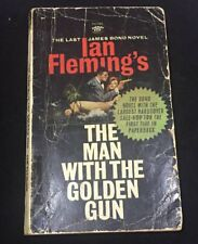 The Man With The Golden Gun Ian Fleming Ex-library Book 1966 1st Printing