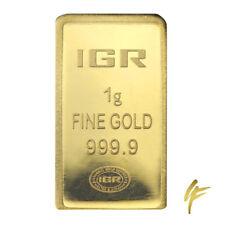1 Gramm Goldbarren IGR 999,9 im Blister + Zertifikat LBMA 1g Gold 24kt Münze
