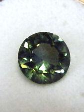 Natural green tourmaline...quality gemstone..fancy round cut ..7.26 Carat