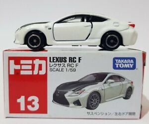 1:59 Scale #13 Takara Tomy White Lexus RC F