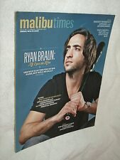 1,2/2012 'Malibu Times' Mag Ryan Braun Milwaukee Brewers Biggest Loser Health  B