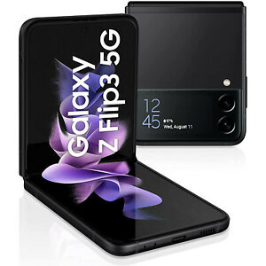 Samsung Galaxy Z Flip3 5G Smartphone 128GB Neu vom Händler OVP Phantom Black