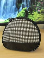Lancome Black White Houndstooth Cosmetic Bag Purse