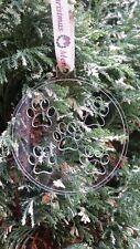Dog Paw Print Pallina Decorazione albero di natale sfera palla (regalo decorazioni)