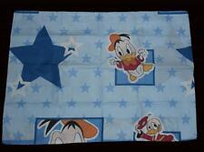 2 Vtg Baby Donald Duck Stars Blue Standard Envelope End Pillowcases NWOT Cute