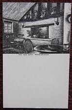 The Old Way Westerham Vintage JDS 1939 woodcut postcard Kent