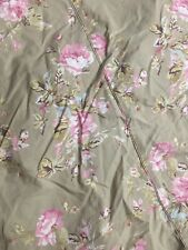 Simply Shabby Chic Tan And Pink Rose Twin Duvet Cover Wish Ruffle Sham