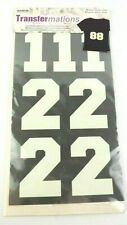 Iron On Numbers by Transfermations 4 Sheets 25 Pieces 3 Inches Tall