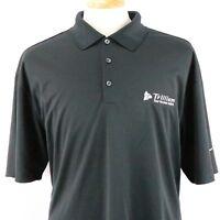 Nike Golf Dri-Fit Men's Short Sleeve Golf Polo Shirt Size 2XL Solid Black NWT