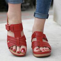 Women Premium Orthopedic Open Toe PU Sandals Vintage Anti-slip Breathable Summer