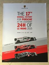 Porsche Factory Poster - 2015 Le Mans 17th Win! RARE