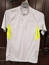 Merrell Select Wick Men's Shirt Size Large Grey Neon 1/4 Zip Short Sleeve Top